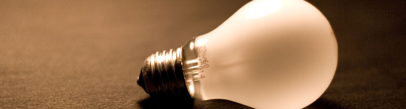 Lead photo: Lightbulb closeup